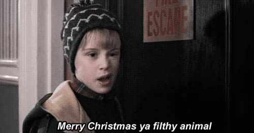 Merry christmas ya filthy animal animated GIF