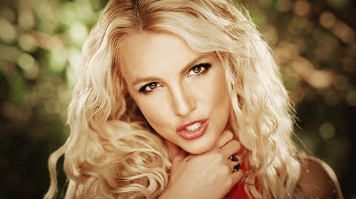 Britney Spears singing animated GIF