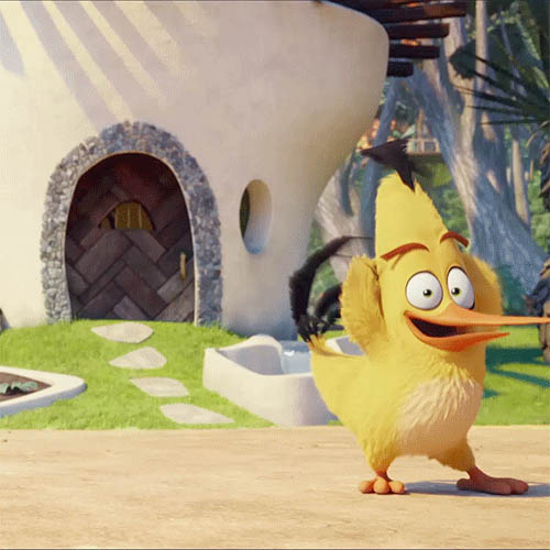 Dancing bird cartoon animated GIF