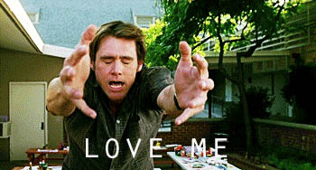 Jim Carrey love me animated GIF