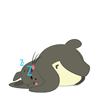 Totoro sleeping moving picture