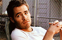 Chris Pine smile moving picture