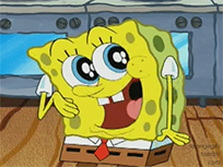 SpongeBob laughing animated GIF