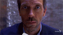 Dr House eats animated GIF