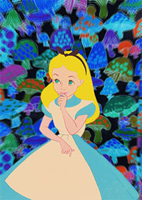 Alice in Wonderland Trippy animated GIF