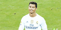 Ronaldo licks his lips moving picture