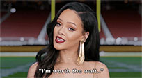 Rihanna responds animated GIF
