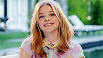 Chloe Moretz laugh animated GIF