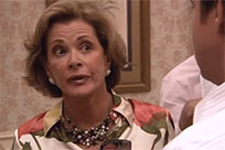 Lucille Bluth wink animated GIF