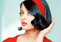 Aishwarya Rai corrects hair animated GIF