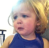 Disappointed baby animated GIF