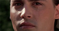 Johnny Depp crying moving picture