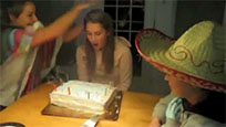 Funny birthday cake animated GIF