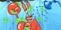 Mr krabs money shower animated GIF