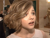 Chloe Moretz confused reaction animated GIF
