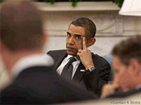 Obama middle finger moving picture