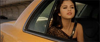 Selena Gomez in car moving picture
