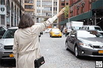 Hailing a cab moving picture