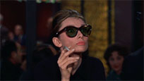 Audrey Hepburn shocked animated GIF