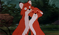 Fox and the Hound love animated GIF