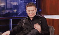 Happy Jeremy Renner moving picture