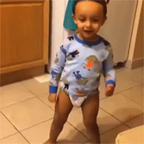 Happy baby dance free GIF download