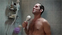 Funny Paul Rudd in shower animated GIF