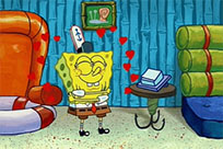 Spongebob in love free GIF download