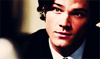 Sam Winchester smile animated GIF