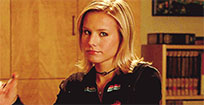 Veronica Mars finger wag animated GIF