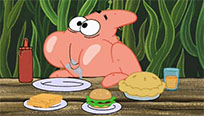 Patrick eats his lunch free GIF download