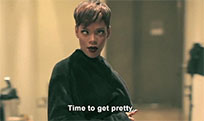 Funny emotions Rihanna animated GIF