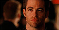 Chris Pine staring into your soul animated GIF