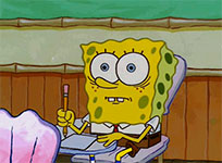 SpongeBob Exam animated GIF