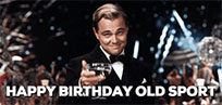 Happy Birthday Old sport animated GIF