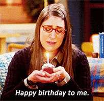 Happy Bithday to me animated GIF