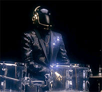 Daft Punk drumming moving picture