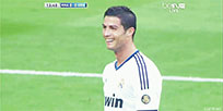 Happy Cristiano Ronaldo animated GIF