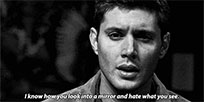 Dean Winchester says animated GIF