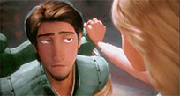 Flynn Rider Tangled raises eyebrow animated GIF