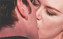 Nicole Kidman passionate kiss moving picture