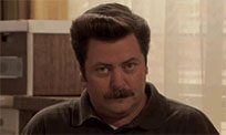 Ron Swanson happy free GIF download