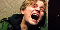 Sobbing Leo DiCaprio moving picture