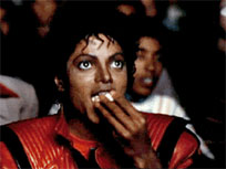 Michael Jackson eating popcorn moving picture