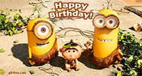 Happy Birthday from Minions free GIF download