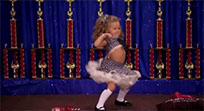 Dancing little girl moving picture