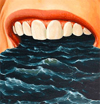 Ocean in mouth moving picture