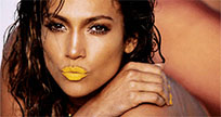 Jennifer Lopez lips kiss animated GIF