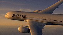 United Airlines Boeing free GIF download