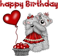 Loving Bears Happy Birthday animated GIF